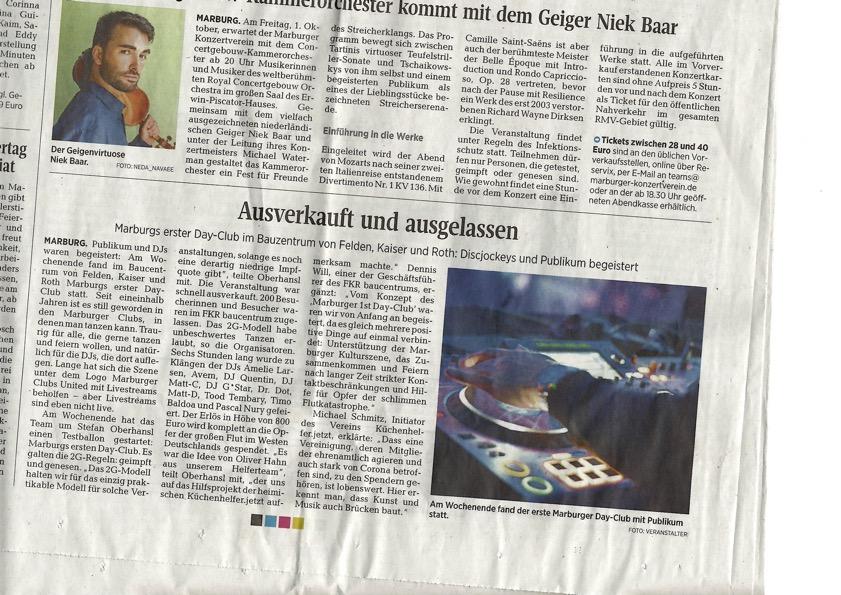 OP-Marburg: Ausferkauf und ausgelassen